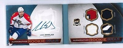 2014-15 The Cup Aaron Ekblad Auto Rookie Gear ARG-AE 3/25 Laundry tag patch HOT!