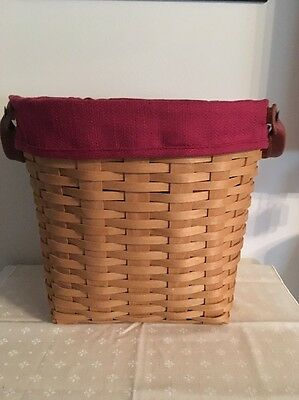 Longaberger Small Oval Waste Basket Set - Paprika
