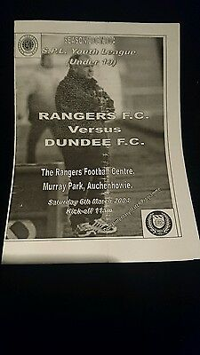 2004 youth league Rangers v Dundee
