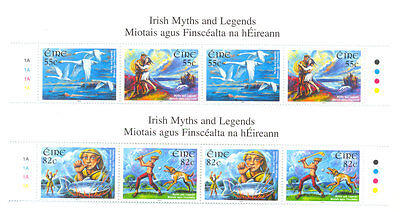 Ireland-Myths and Legends mnh 2 sets from top of sheet mnh((2140-43)