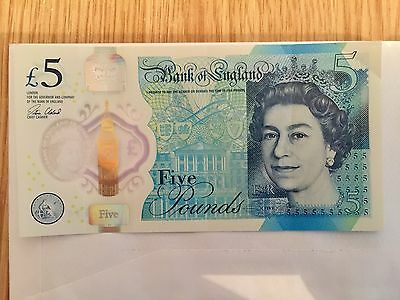 LOOK A VERY RARE COLLECTORS AK47, New Polymer £5 Note