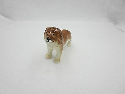 Vintage Glazed Ceramic Porcelain Lion Japan