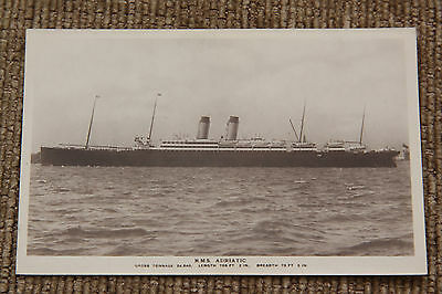 RMS White Star Adriatic Real Photo Postcard