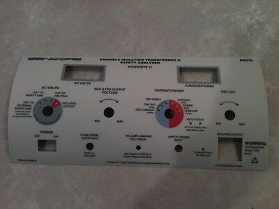 Sencore Pr570 Powerite Ii, Front Panel Overlay (New)