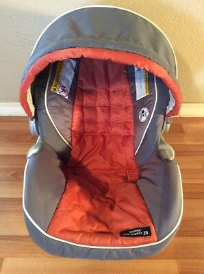 Graco Click Connect 30 35 Baby Car Seat Cover Cushion Canopy Set Gray Orange