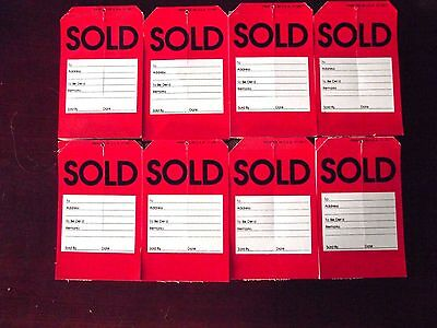 """Approximately 400 Sold Tags With Slit 5.5"""" by 3.5"""""""