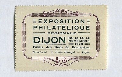 EXPOSITION PHILATELIQUE DIJON France 1928 STAMP collector CONVENTION Philatelic