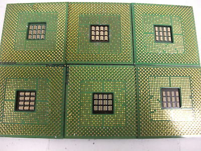 LOT of 6 Pcs Intel Pentium 4  Mixed CPU for Gold Recovery