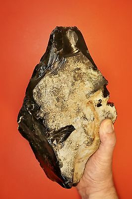 "Formidable 28cm/11"" Lower Paleolithic Two Handed Rhomboid Axe c400k"