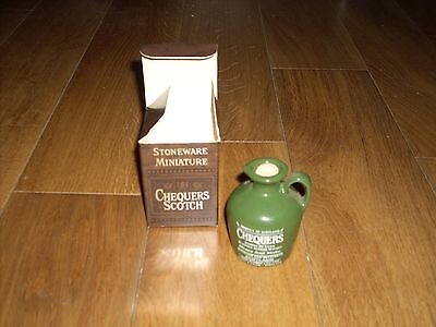 Chequers Scotch Whisky - Boxed Miniature Collectors Ceramic Decanter