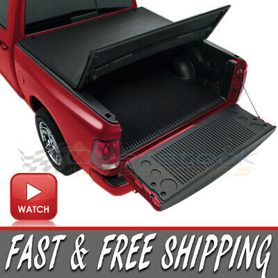 2007-2013 Chevy Silverado GMC Sierra 5.8ft Short Bed Tri-Fold Tonneau Cover