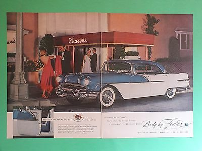 1956 Pontiac CATALINA 4 Door Hardtop Body by Fisher 2 Page Magazine Ad
