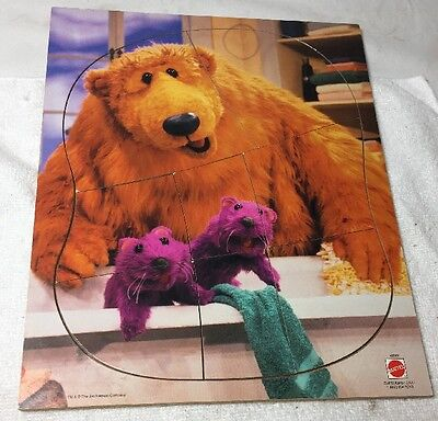 Bear in the Big Blue House Wooden tray Puzzle Mattel Nickelodeon 42069 8-pieces