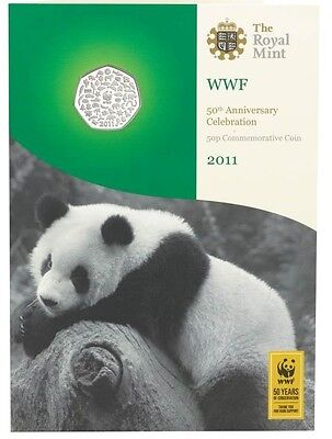 2011 WWF 50th ANNIVERSARY 50p COIN IN BU SEALED PACK from ROYAL MINT