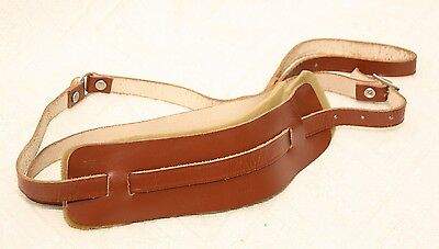 Vintage Leather Acoustic Electric Guitar Strap - 1960's - Brown