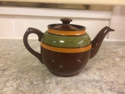 STUNNING little retro Collectable TRADITIONAL GLAZED STONEWARE TEAPOT