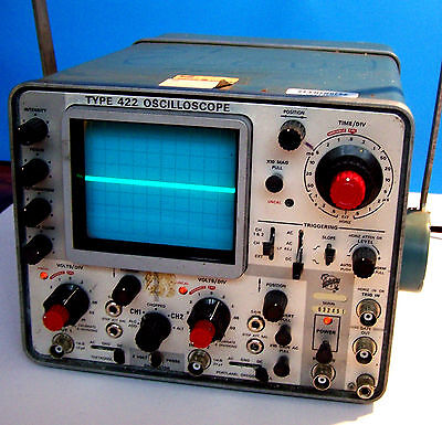 Vintage Tektronix 422 Dual 2 Channel Oscilloscope working tested