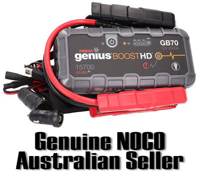NOCO GB70 GENIUS BOOST 12V Car Ute 4WD Jump Starter up to 8.0L Petrol Engine