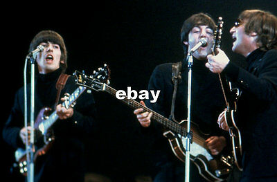 Beatles 1966 Gibson Sg Hofner Nme Poll Show Last Official Live British Gig Photo