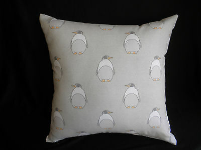 Adorable Gray White Penguin Child Nursery Cushion 45cm Baby Shower Gift Au Made