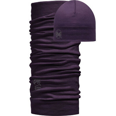 Buff Wool Solid Colour - Plum
