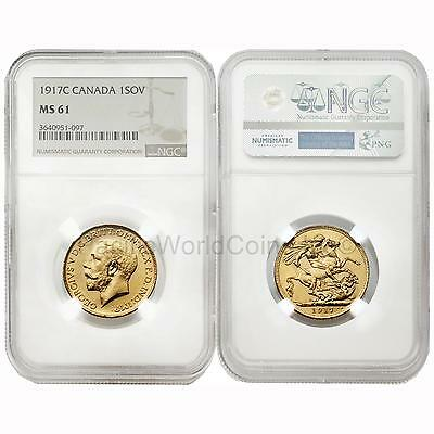 Canada 1917-C Sovereign Gold NGC MS61