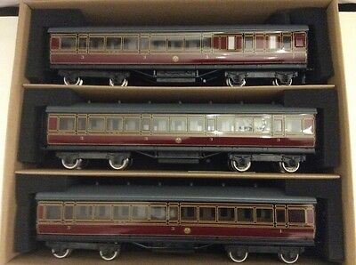 Darstaed Trains  O Gauge Set A LMS Period 1 Coaches x3 Boxed 2/3 Rail