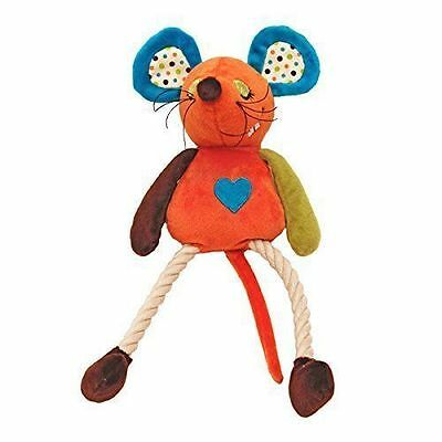 Rosewood Millie Mouse Dog Toy | Mr Twister Plush Rope Squeaky Medium Christmas