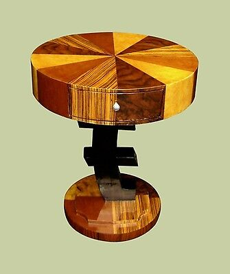 UNUSUAL forms  Art Deco style side table.