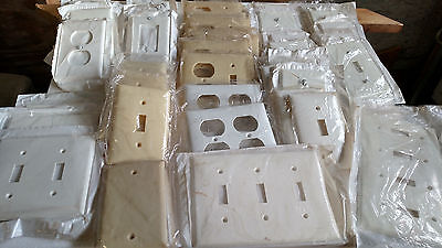 Leviton electrical wall plates 50(pieces) 9 differant styles all new