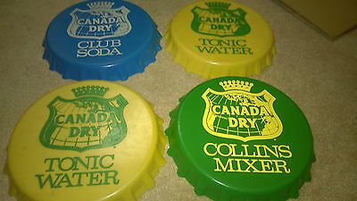 Canada Dry Soda Advertising Vintage Plastic Serving Trays Lot of 4!