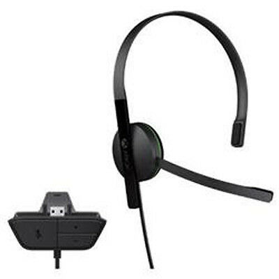Official Microsoft Xbox One wired Chat Headset w/ Microphone (Adapter attached)