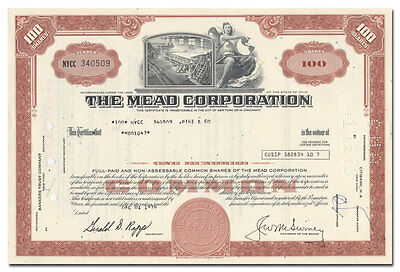 Mead Corporation Stock Certificate