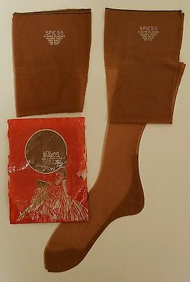 """3 pair NEW 1950s Vintage SEAMED Stockings Wilborn & Spiess Size 10 - 33"""""""