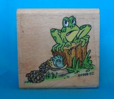 Hang in There Frog Rubber Stamp G31617 Wood Mounted