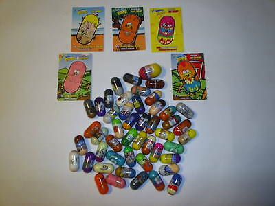 Lot Of 48 Mighty Beanz, includes 5 cards, Giant bean