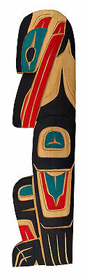 Northwest Coast Salish BC First Nations Indigenous Art Cedar Raven Carving