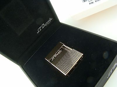 S.T. Dupont 13410 Ligne 1 (no ping) Diamond Head Lighter RARE DUAL-FLAME 013410