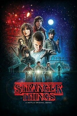 Stranger Things Collage Poster 24X36 New Free Shipping