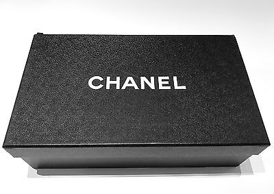 Authentic Chanel Black Empty Flats Shoe Gift Box For Storage Silk Paper