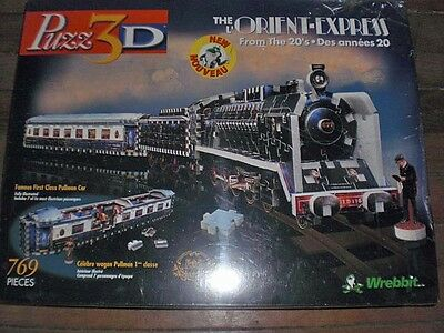 Orient Express  3D Puzzle, (SEALED) NEW!! Puzz 3d