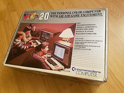 Commodore Vic-20 computer w/ box, cartridges, datassette, manuals, power supply