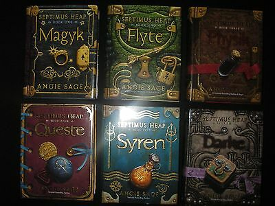 6 Septimus Heap Books Set 1-6 Hardcover NEW Angie Sage Young Adult Teen Fantasy