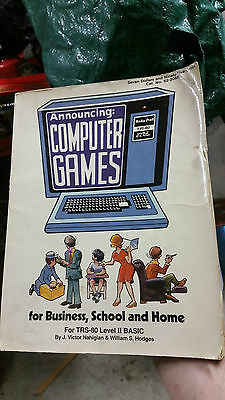 Tsr-80 Programming Book - Computer Games For Business, School, And Home