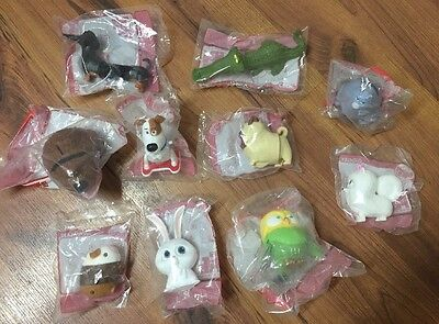 Secret Life Of Pets McDonald's Toys *Entire Set With Free Max Pez Dispenser* New