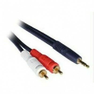 C2G / Cables to Go 40612 Velocity 3.5mm Stereo Male to Dual RCA Male Y-Cable (0.