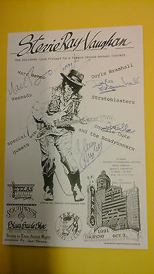 Original STEVIE RAY VAUGHAN Vaughn 1991  1st ever Birthday Jam Poster Signed