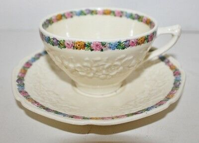 VTG Crown Ducal Gainsborough Floral Motif Cup and Saucer