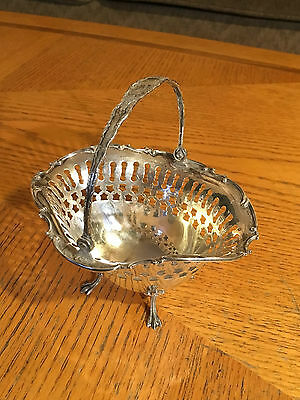 Antique Bigalow Kennard & Co Sterling Footed Candy Dish With Handle.