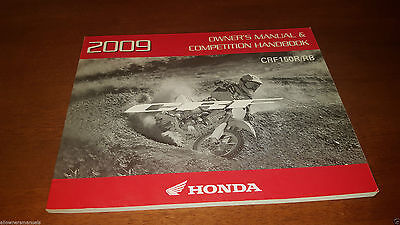 2009 New Honda Crf150 Crf 150 R Rb Competition Owners Operation Manual Handbook!
